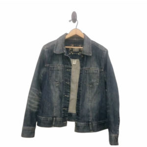 J. Jill stretch denim jacket Fading Whiskering